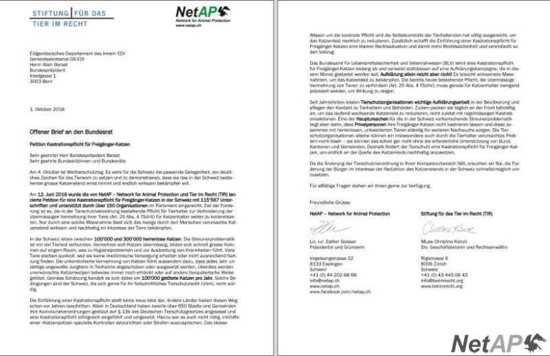 Offener Brief An Den Bundesrat